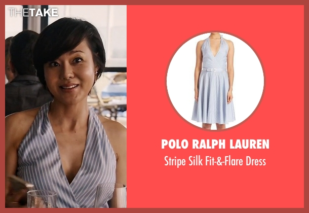 Polo Ralph Lauren blue dress from Mistresses seen with Karen Kim (Yunjin Kim)