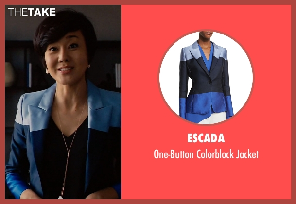 Escada blue jacket from Mistresses seen with Karen Kim (Yunjin Kim)