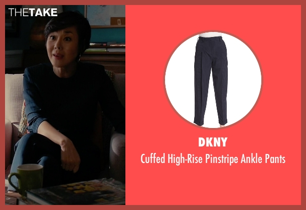 DKNY blue pants from Mistresses seen with Karen Kim (Yunjin Kim)