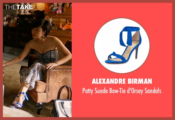 Alexandre Birman blue sandals from Mistresses seen with Karen Kim (Yunjin Kim)