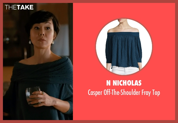 N Nicholas blue top from Mistresses seen with Karen Kim (Yunjin Kim)