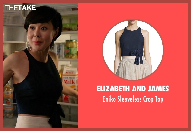 Elizabeth and James blue top from Mistresses seen with Karen Kim (Yunjin Kim)