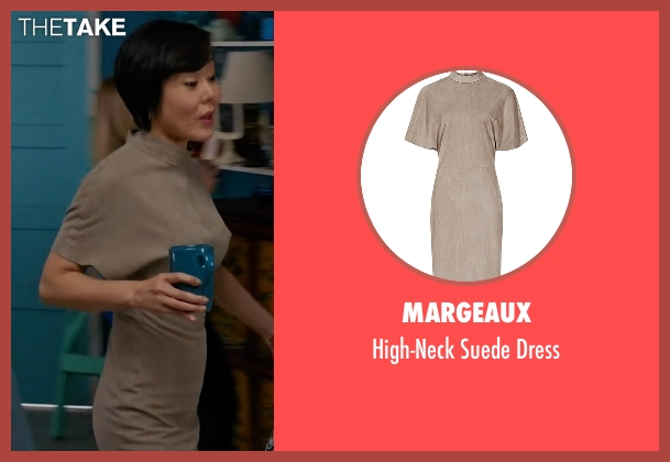 Margeaux brown dress from Mistresses seen with Karen Kim (Yunjin Kim)