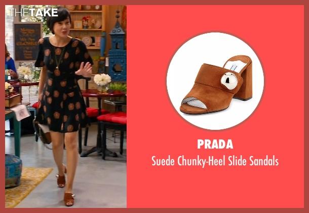Prada brown sandals from Mistresses seen with Karen Kim (Yunjin Kim)