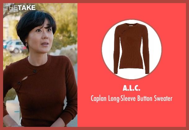 A.L.C. brown sweater from Mistresses seen with Karen Kim (Yunjin Kim)