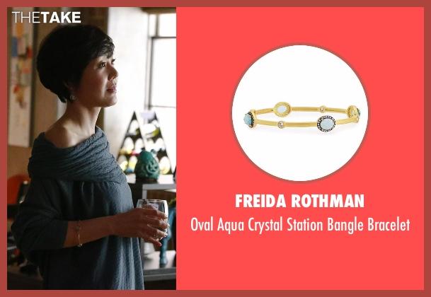 Freida Rothman gold bracelet from Mistresses seen with Karen Kim (Yunjin Kim)