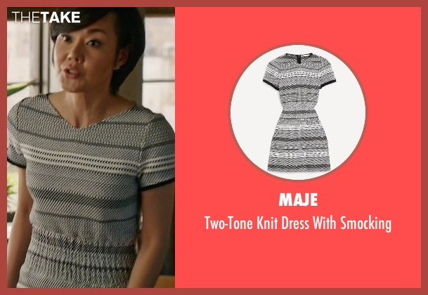 Maje gray smocking from Mistresses seen with Karen Kim (Yunjin Kim)