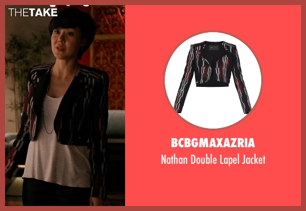 BCBGMAXAZRIA jacket from Mistresses seen with Karen Kim (Yunjin Kim)