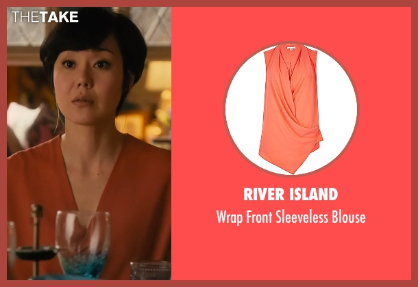 River Island orange blouse from Mistresses seen with Karen Kim (Yunjin Kim)