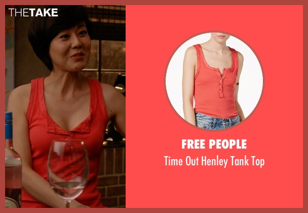 Free People orange top from Mistresses seen with Karen Kim (Yunjin Kim)