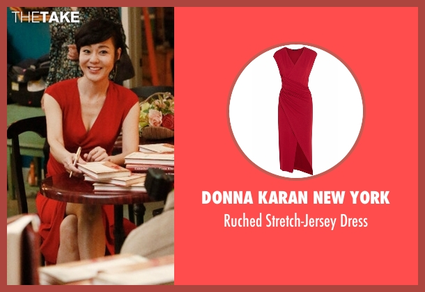 Donna Karan New York red dress from Mistresses seen with Karen Kim (Yunjin Kim)