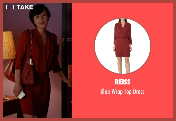 Reiss red dress from Mistresses seen with Karen Kim (Yunjin Kim)