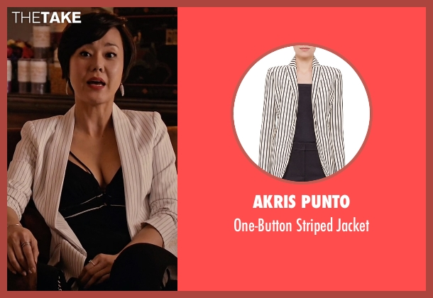 Akris Punto white jacket from Mistresses seen with Karen Kim (Yunjin Kim)