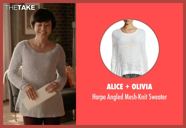 Alice + Olivia white sweater from Mistresses seen with Karen Kim (Yunjin Kim)