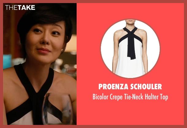 Proenza Schouler white top from Mistresses seen with Karen Kim (Yunjin Kim)