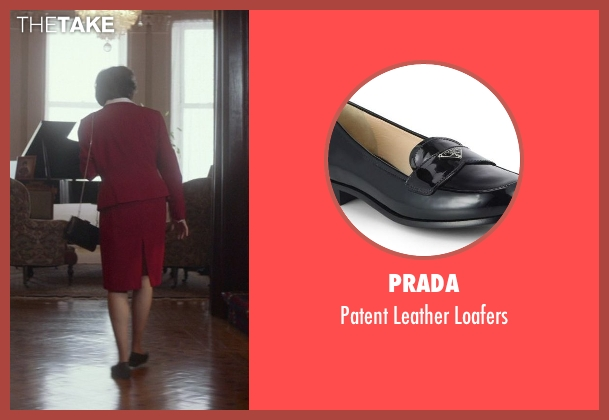 Prada black loafers from That Awkward Moment seen with Karen Ludwig (Mrs. Rose)