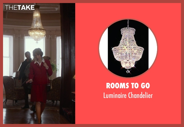 Rooms To Go chandelier from That Awkward Moment seen with Karen Ludwig (Mrs. Rose)