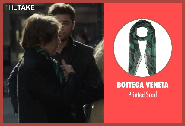 Bottega Veneta green scarf from That Awkward Moment seen with Karen Ludwig (Mrs. Rose)