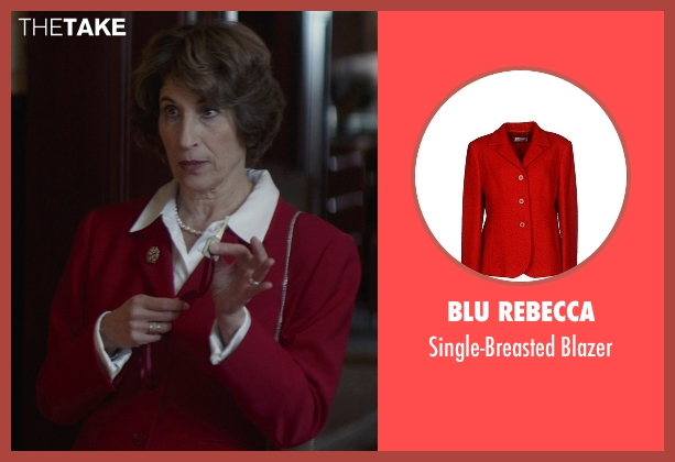 Blu Rebecca red blazer from That Awkward Moment seen with Karen Ludwig (Mrs. Rose)