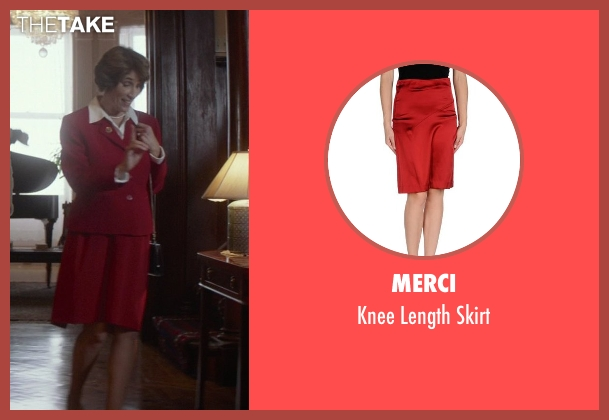 Merci red skirt from That Awkward Moment seen with Karen Ludwig (Mrs. Rose)