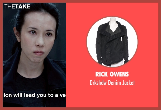 Rick Owens black jacket from Man of Tai Chi seen with Karen Mok (Inspector Suen Jing Si)
