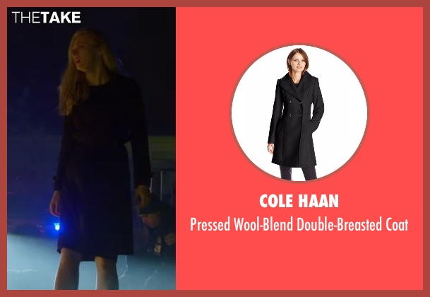 Cole Haan black coat from Daredevil seen with Karen Page (Deborah Ann Woll)