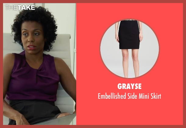 Grayse black skirt from Begin Again seen with Karen Pittman (Business Woman)