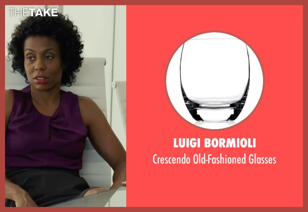 Luigi Bormioli glasses from Begin Again seen with Karen Pittman (Business Woman)