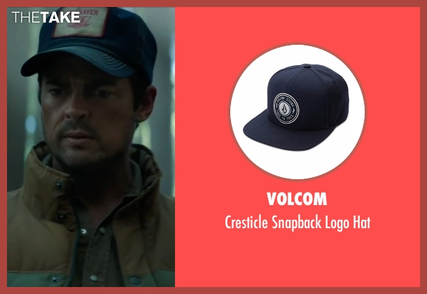 Volcom blue hat from Pete's Dragon seen with Karl Urban (Gavin)