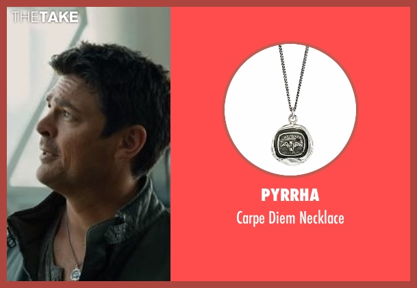 Pyrrha silver necklace from Star Trek Beyond seen with Karl Urban (Bones)