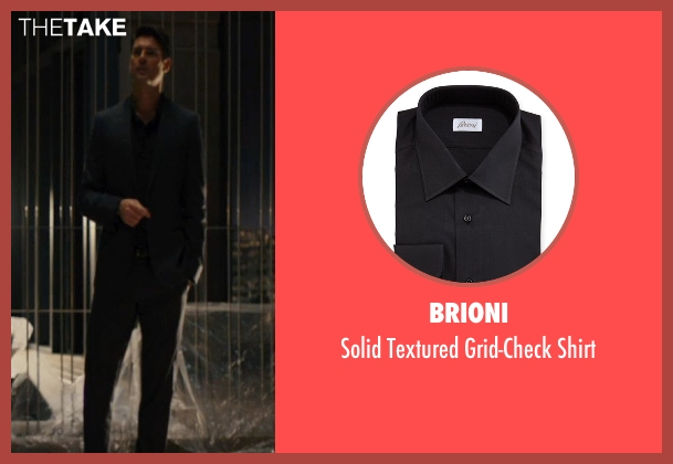 Brioni black shirt from The Loft seen with Karl Urban (Vincent Stevens)