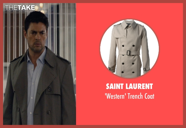 Saint Laurent gray coat from The Loft seen with Karl Urban (Vincent Stevens)