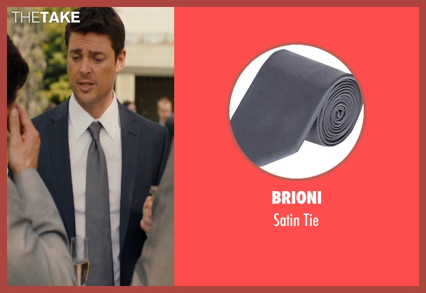 Brioni gray tie from The Loft seen with Karl Urban (Vincent Stevens)