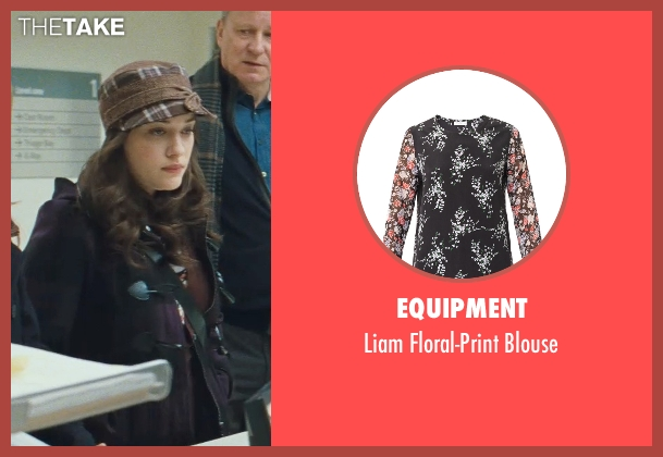 Equipment black blouse from Thor seen with Kat Dennings (Darcy Lewis)