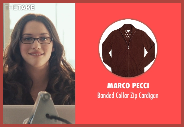 Marco Pecci brown cardigan from Thor seen with Kat Dennings (Darcy Lewis)