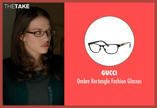 Gucci black glasses from Thor: The Dark World seen with Kat Dennings (Darcy Lewis)