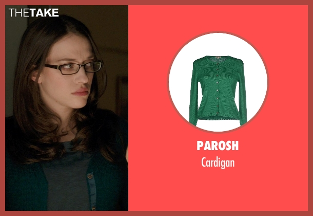 Parosh green cardigan from Thor: The Dark World seen with Kat Dennings (Darcy Lewis)