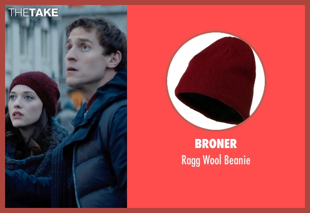 Broner red beanie from Thor: The Dark World seen with Kat Dennings (Darcy Lewis)