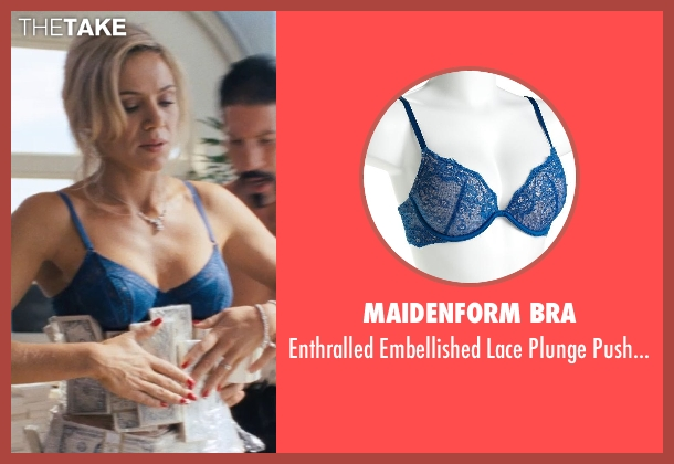 Maidenform Bra blue bra from The Wolf of Wall Street seen with Katarina Cas (Chantalle)