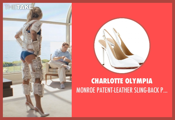Charlotte Olympia white pumps from The Wolf of Wall Street seen with Katarina Cas (Chantalle)