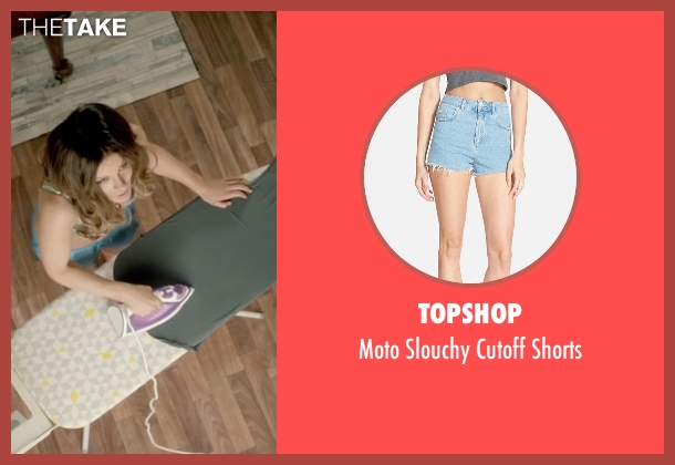 Topshop blue shorts from Absolutely Anything seen with Kate Beckinsale (Catherine)