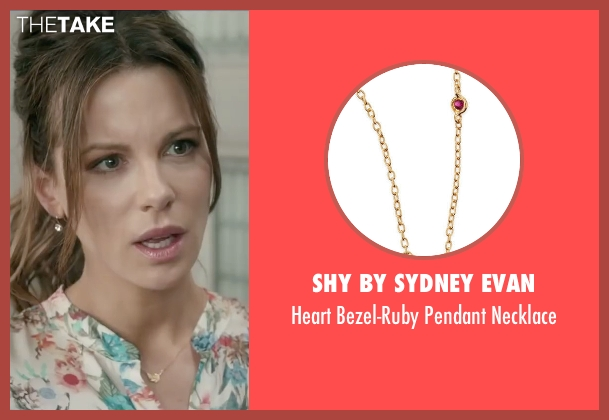 Shy By Sydney Evan gold necklace from Absolutely Anything seen with Kate Beckinsale (Catherine)
