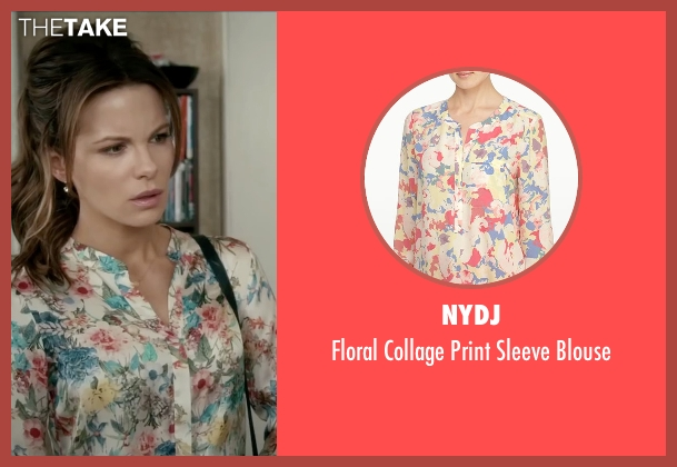 NYDJ white blouse from Absolutely Anything seen with Kate Beckinsale (Catherine)