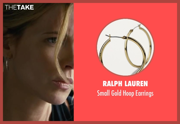 Ralph Lauren gold earrings from Contraband seen with Kate Beckinsale (Kate Farraday)
