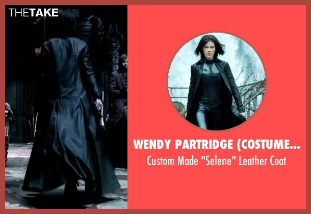 Wendy Partridge (Costume Designer) black coat from Underworld seen with Kate Beckinsale (Selene)