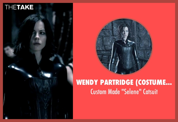 Wendy Partridge (Costume Designer) catsuit from Underworld seen with Kate Beckinsale (Selene)