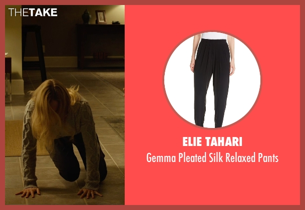 Elie Tahari black pants from Before I Wake seen with Kate Bosworth (Jessie)