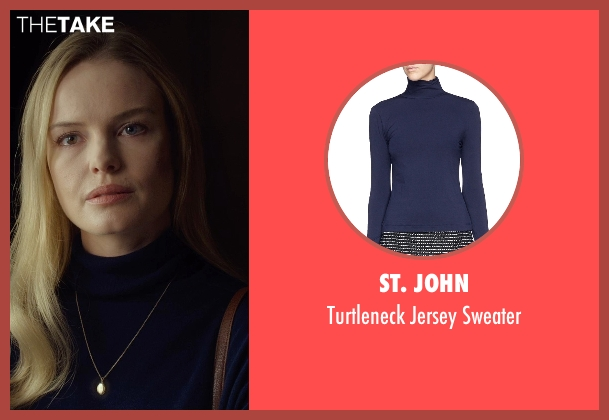 St. John blue sweater from Before I Wake seen with Kate Bosworth (Jessie)