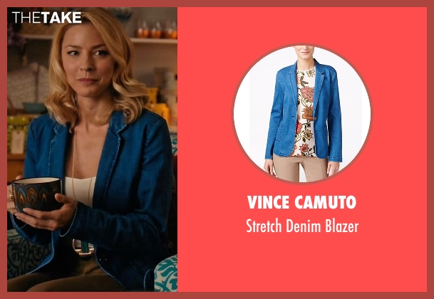 Vince Camuto blue blazer from Mistresses seen with Kate Davis (Tabrett Bethell)