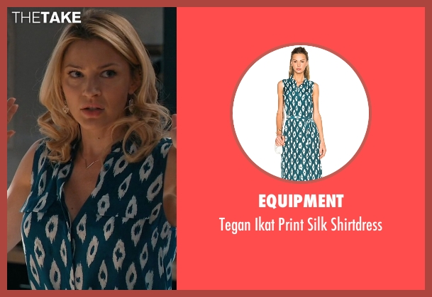 Equipment blue shirtdress from Mistresses seen with Kate Davis (Tabrett Bethell)
